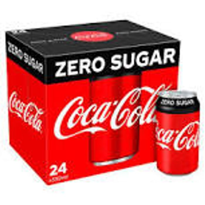 3x24 Cans (72) of Coke Zero or Diet Coke Farmfoods