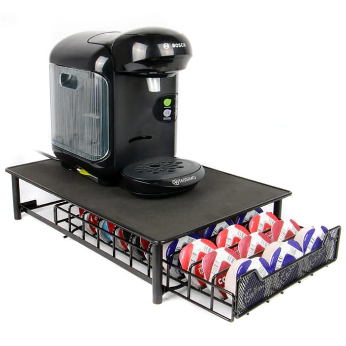 Tassimo 60 Coffee Pod Storage Drawer & Machine Stand in Black or Grey £9.99