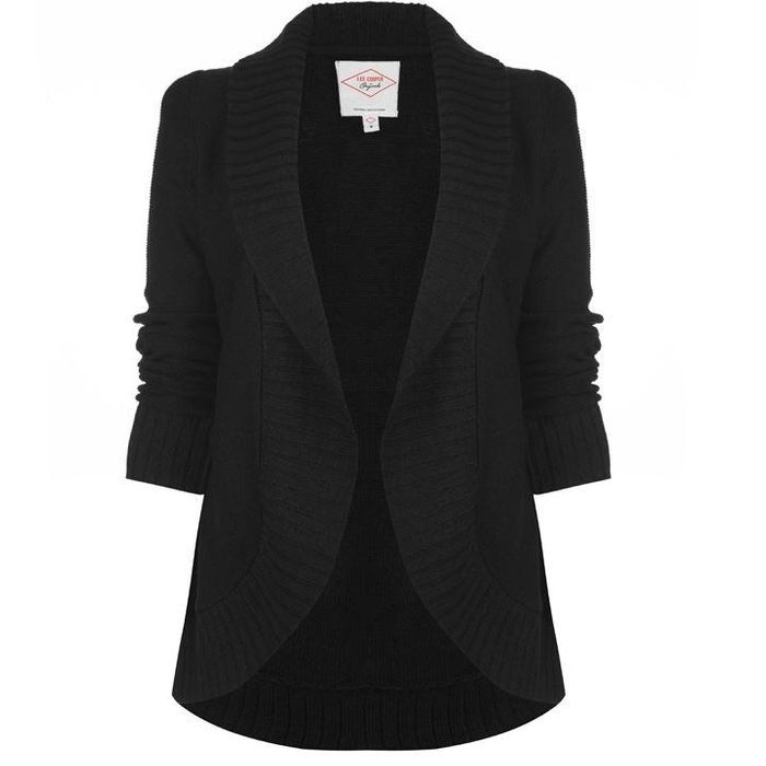 Lee Cooper Open Cardigan Ladies (Black or Navy)