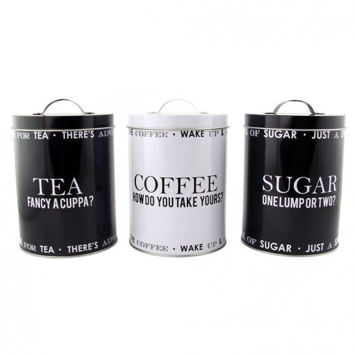 Script Tea - Coffee - Sugar Set 3pc