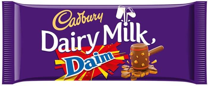 Cadbury Dairy Milk with Daim 120g