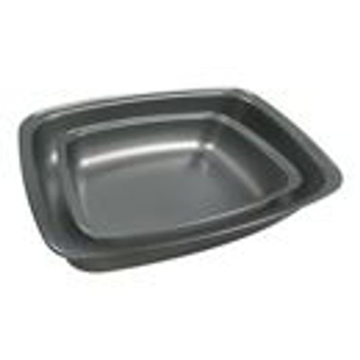 Twin Pack Grey Roaster Set or a 3 Piece Oven Tray Set £3 Each at Asda