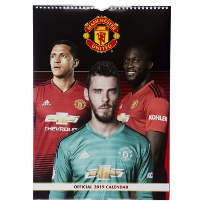 Official 2019 A3 Manchester United Wall Calender 99p at WHSmith (Free C&C)