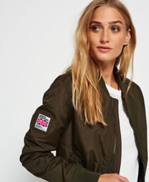 Womens Superdry Sdr Lite Pilot Jacket Deep Khaki (XS)
