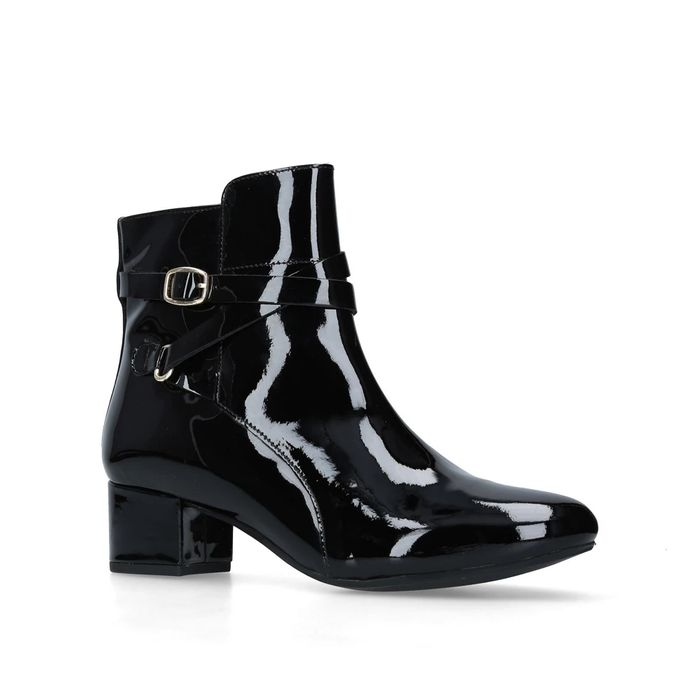 Carvela Black Patent Boots Sizes 3 and 8 Available