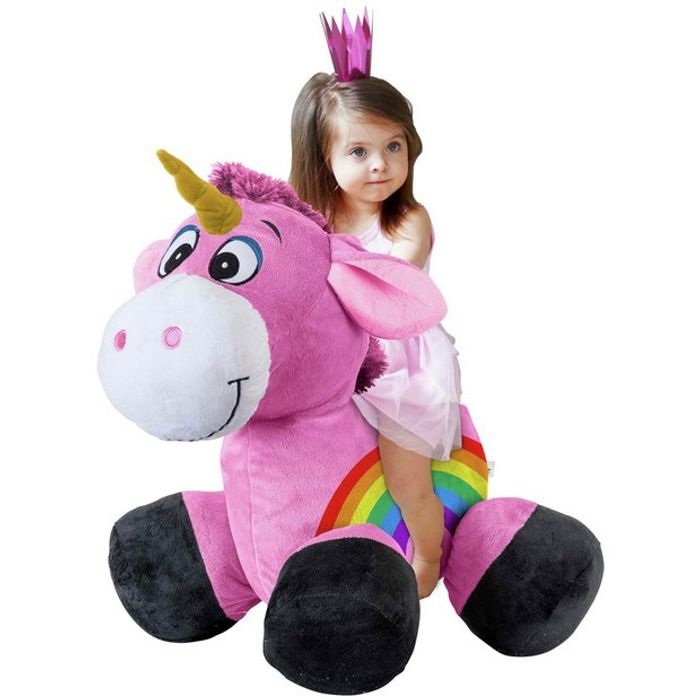 Inflate-a-Mals - Inflatable Plush Unicorn Ride-on - save £10