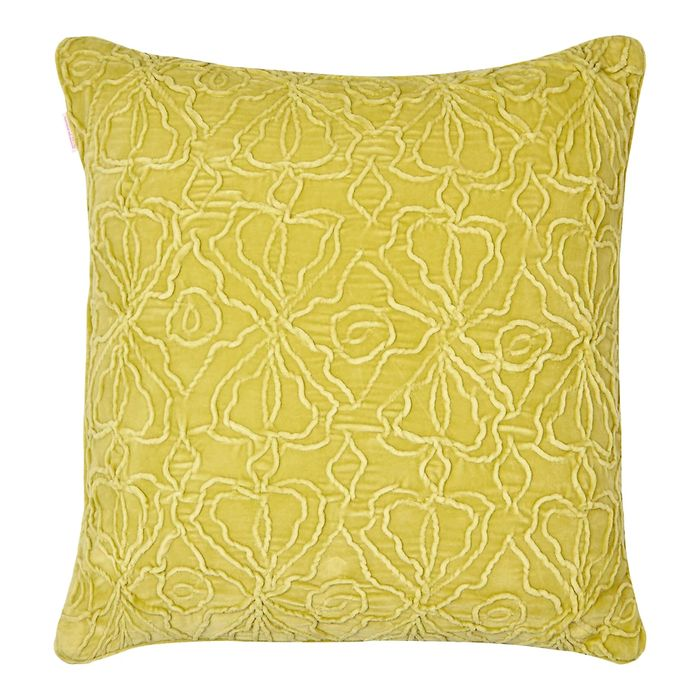 MW by Matthew Williamson - Lime Velvet Cushion