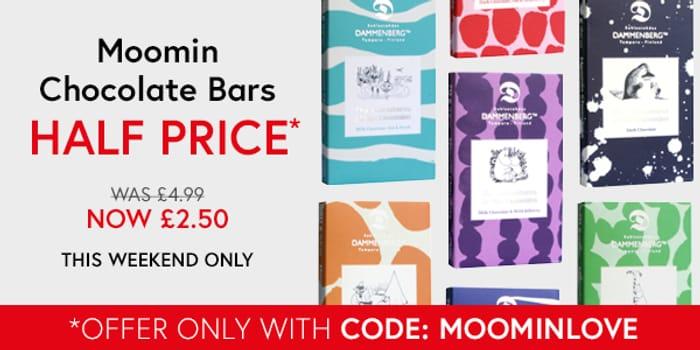 Moomin Chocolate Bars - Half Price