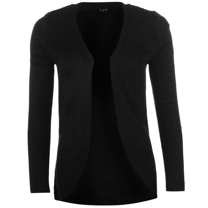 Miso Rib Knitted Cardigan Ladies