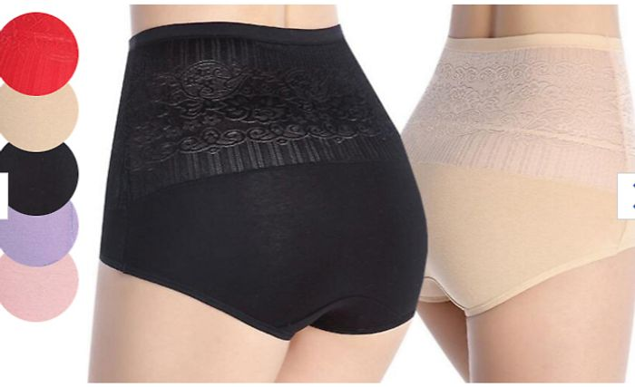 High-Waisted Control Pants - 6 or 12 Pack - Now £9.99