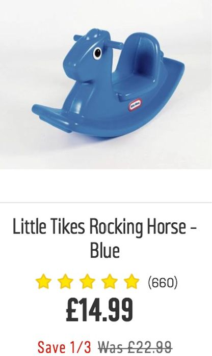 Little Tikes Rocking Horse (Blue) - Save £8