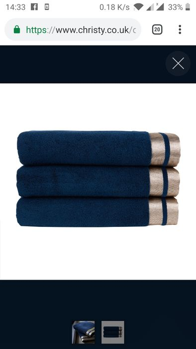 6£/10£/16£ Christy Mode Towels in Ink/Rose Gold