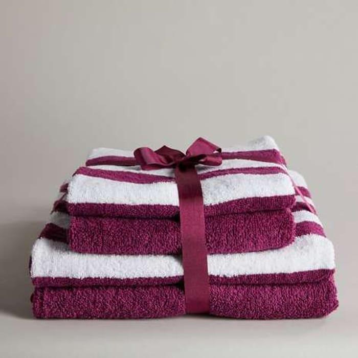*HALF PRICE* 4 Pack Grape Stripe Towel Bale Free C&C