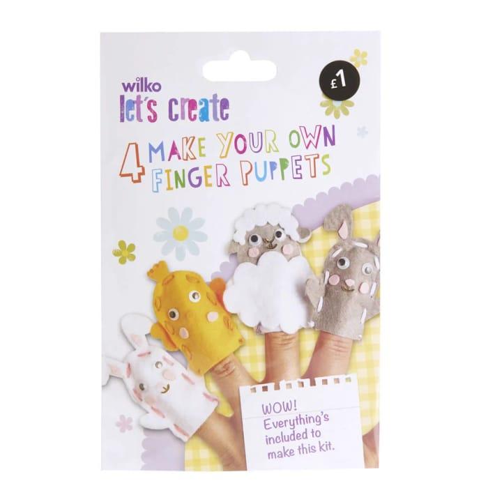Wilko Easter Themed Finger Puppets 4pk