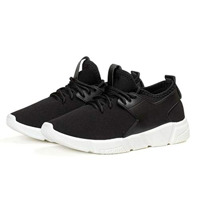 Women Casual Mesh Cloth Patchwork Lace-up Flat Heel Road Running Shoes
