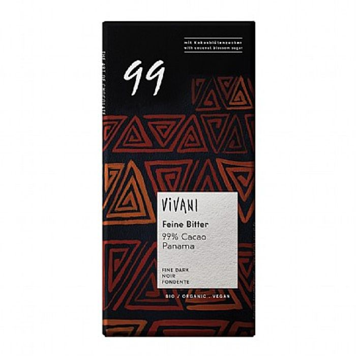Vivani Dark Chocolate 99 % (80g)
