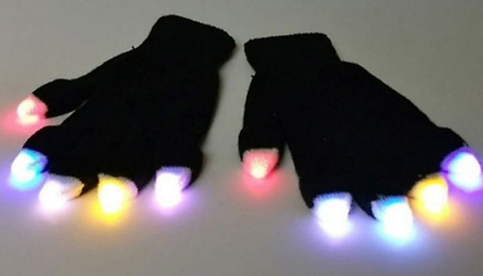 Multicoloured Flashing LED Gloves Voucher (SET)