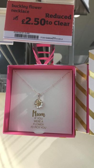 Mum if You Were a Flower I Would Pick You Necklace (Instore Sainsbury's)