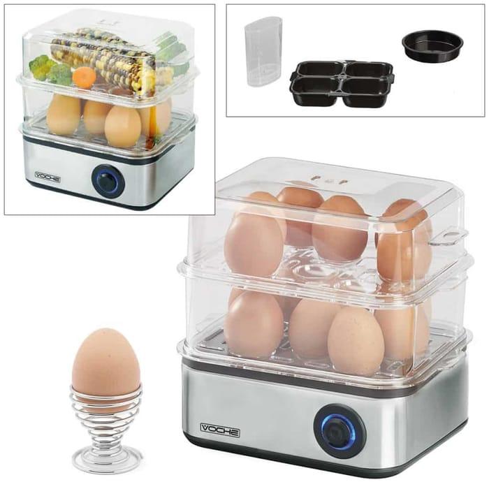 Multi Function Electric 16 Egg Boiler, Poacher, Omelette Maker & Steam Cooker