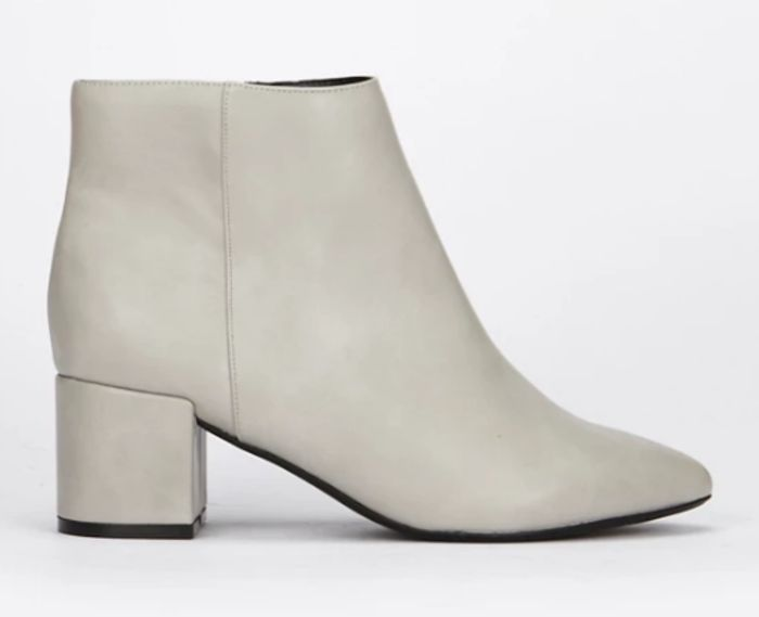 Evans - Extra Wide Fit Grey Heel Ankle Boots
