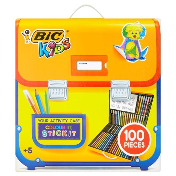 Bic Kids 100 Piece Colouring and Sticker Set HALF PRICE