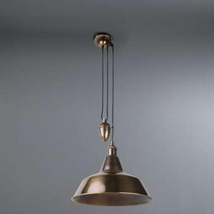 Dorma Farrington Bronze Rise and Fall Ceiling Fitting