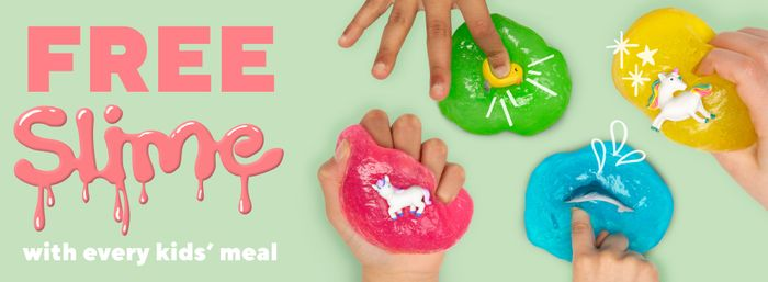 Free Slime with Every Kids Meal at Frankie and Benny's