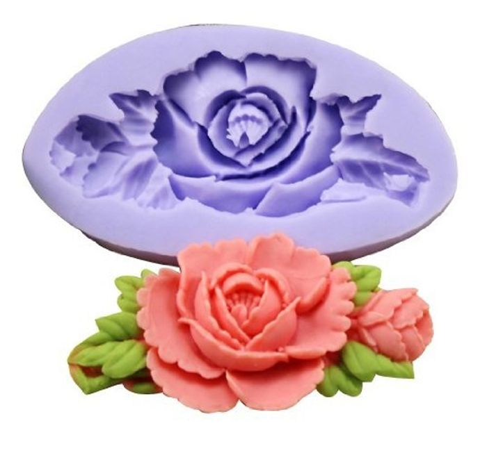 Allforhome (1-Pack) Mini Flower Silicone Sugar Resin Craft