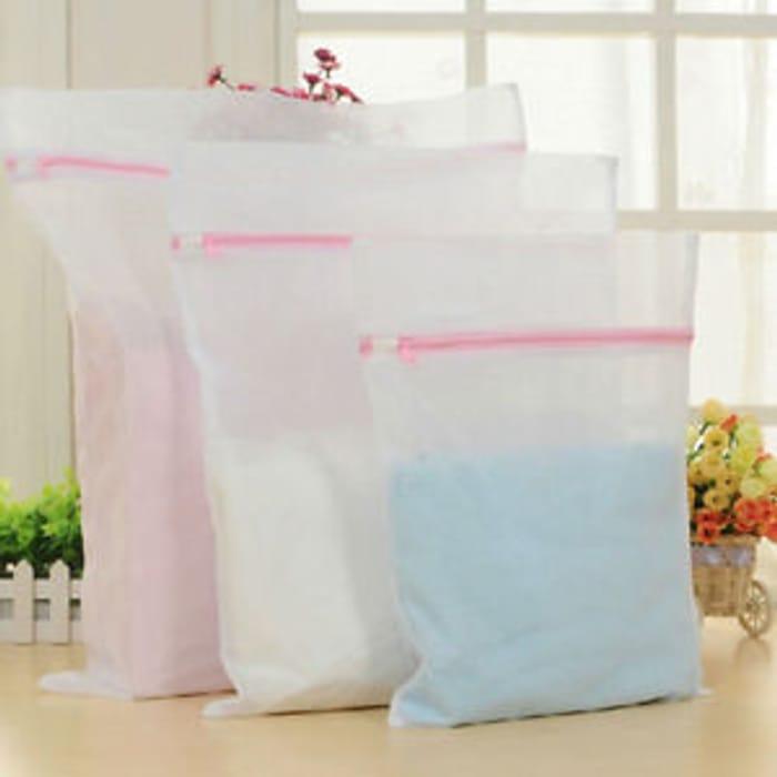 3x Laundry Washing Mesh Net Zipped