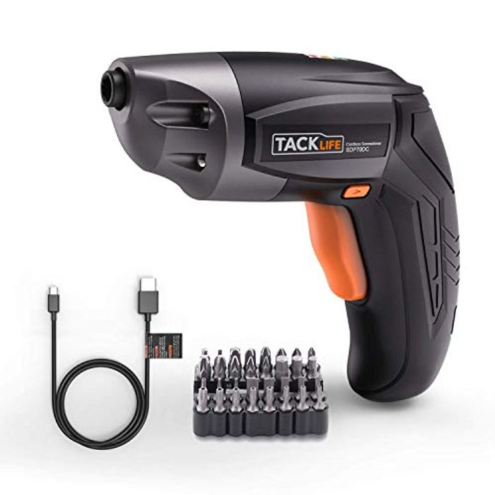 Electric Screwdriver, Tacklife SDP70DC Cordless (Claim Promo)