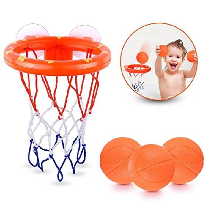 Fun Baby Bath Toy Basketball Hoop