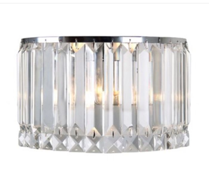 Debenhams - Sophia Crystal Glass Wall Light