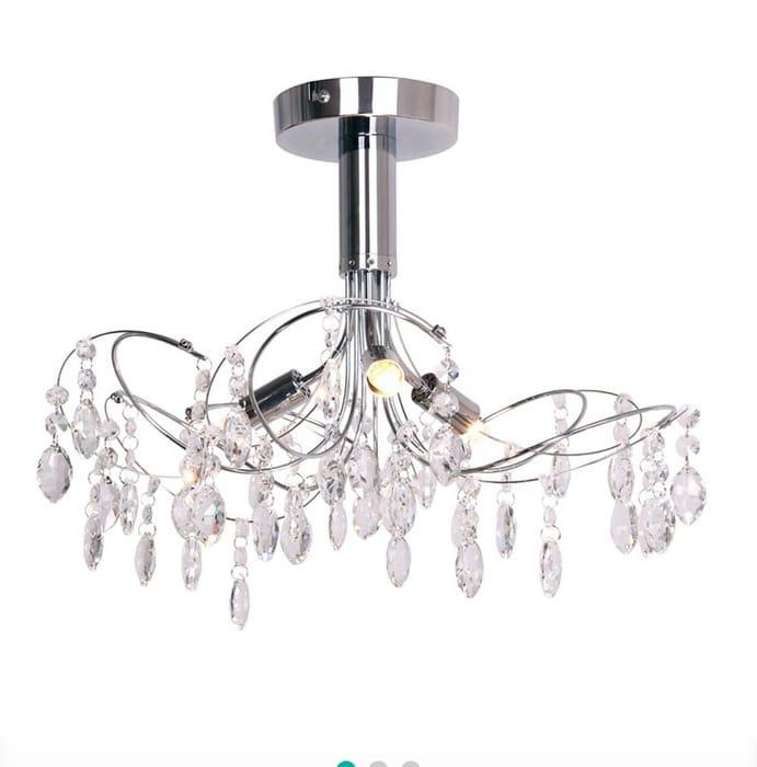 Debenhams - Crystal Glass 'Betsy' Flush Ceiling Light
