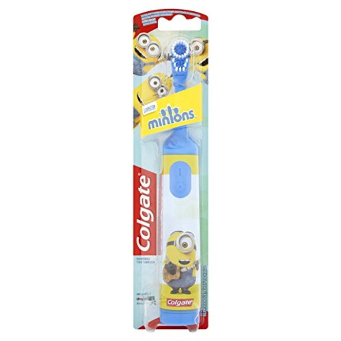 Colgate Minions Extra Soft Battery Toothbrush under HALF PRICE - FREE DELIVERY