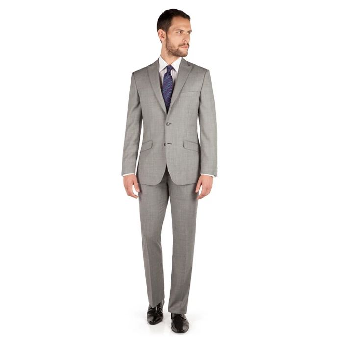 J by Jasper Conran Men's Grey 2 Button Front Tailored Fit Suit - Best Price