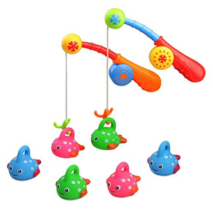 Bath Toys Fishing Game with Cute Spotted Fish