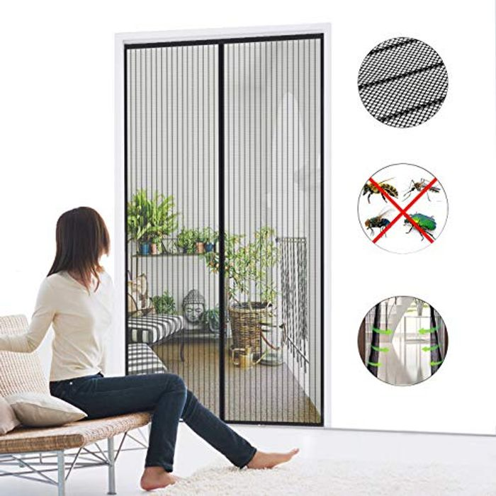Magnetic Screen Door,with Heavy Duty Mesh Curtain,100 X 210 Cm