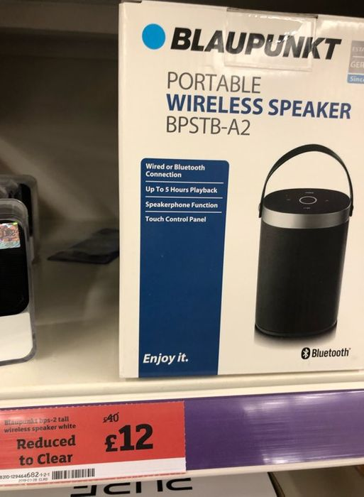 Blaupunkt Portable Wireless Speaker