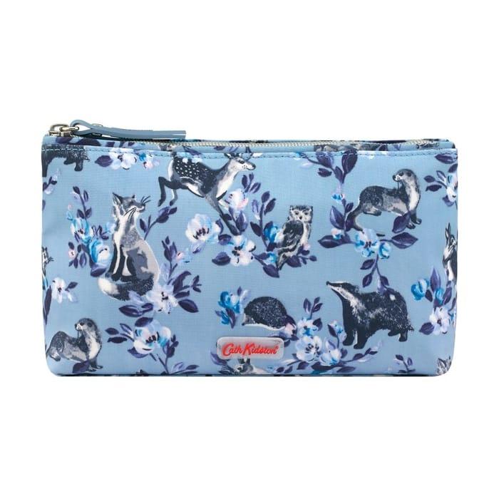 Cath Kidston Mini Badgers and Friends Matte Zip Make up Bag