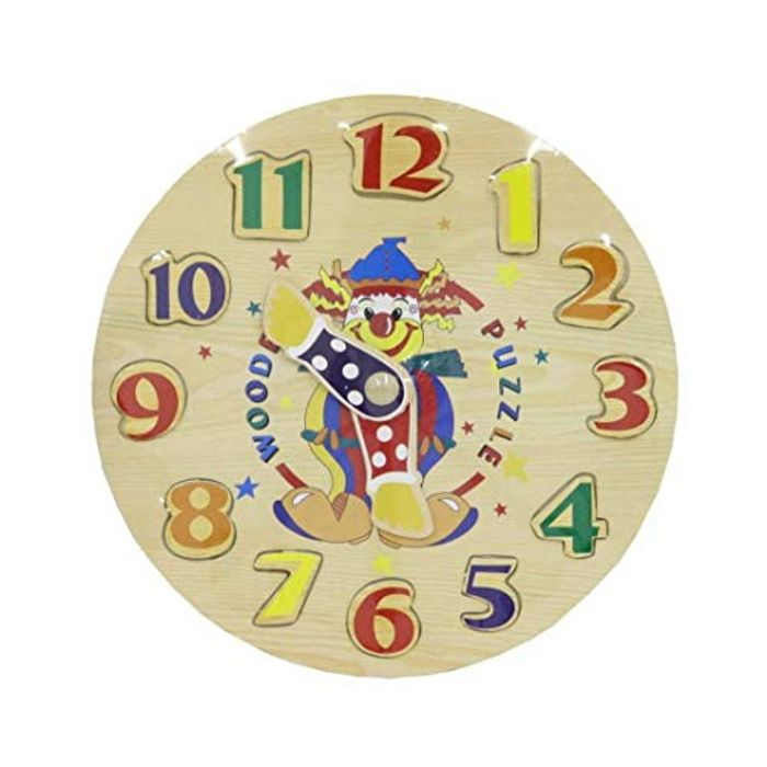 Clown Clock Wooden Puzzle (Free Delivery)