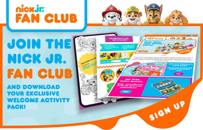 Join the Nick Jr. Fan Club
