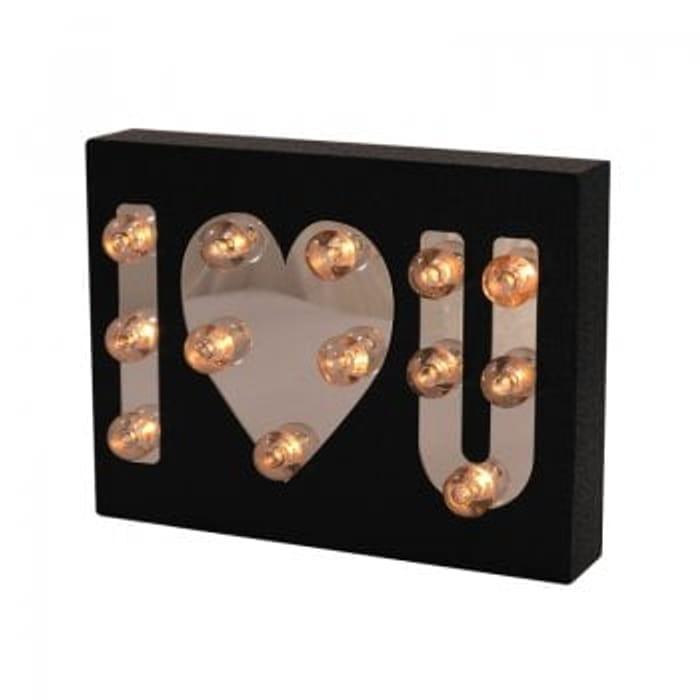 Cute 'I Love You' Light up Block - 60% Off