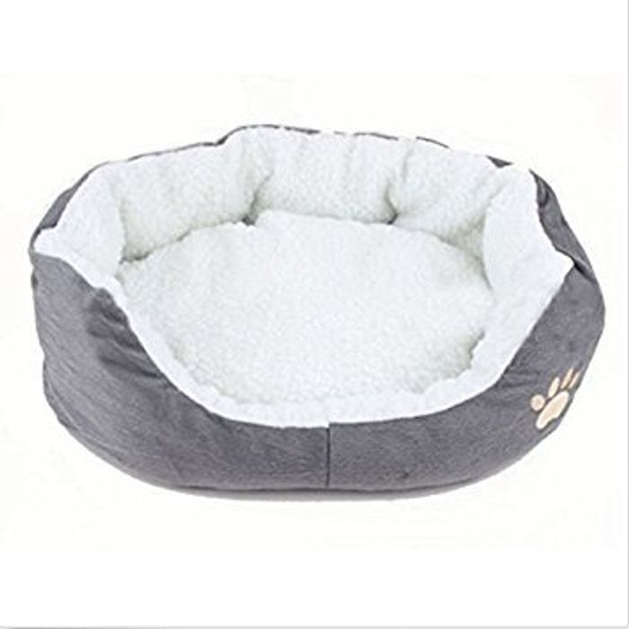 Round or Oval Shape Dimple Fleece Nesting Cave Bed Pet Cat and Small Dogs
