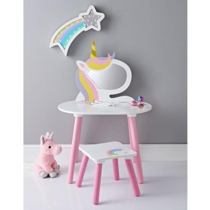 Fabulous Unicorn Vanity Set with Stool & Mirror
