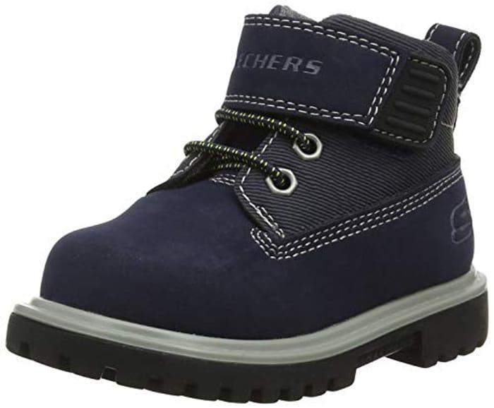 Skechers Boys' Mecca-Bolders Classic Boots Size 7 (24 EU)- Add-On
