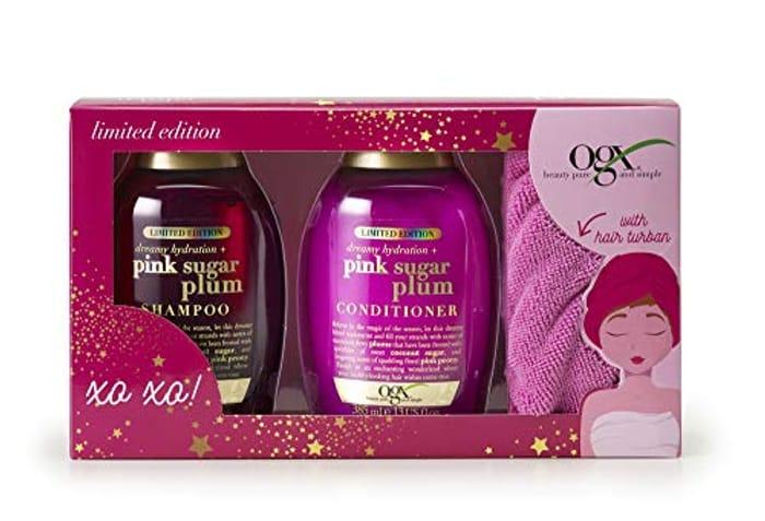 OGX Dreamy Hydration + Pink Sugar Plum Gift Set