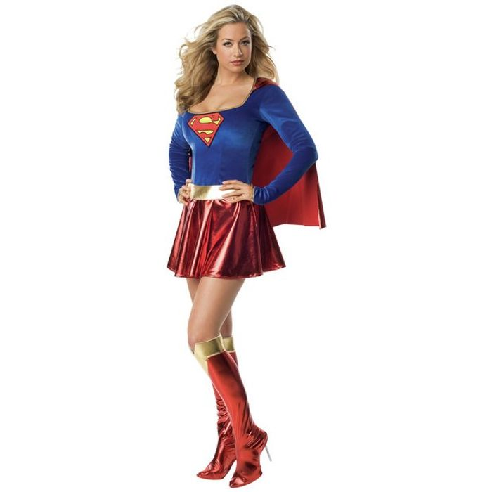 DC Supergirl Fancy Dress Costume Small or Medium