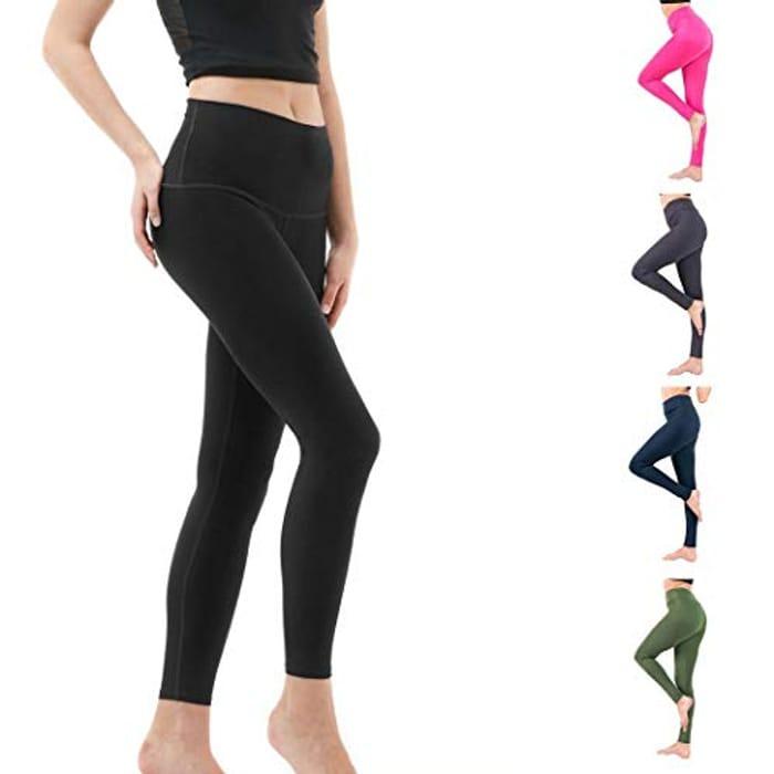 Women Sport Solid Print Slim Fitness Elastic Thin Yoga Leggings