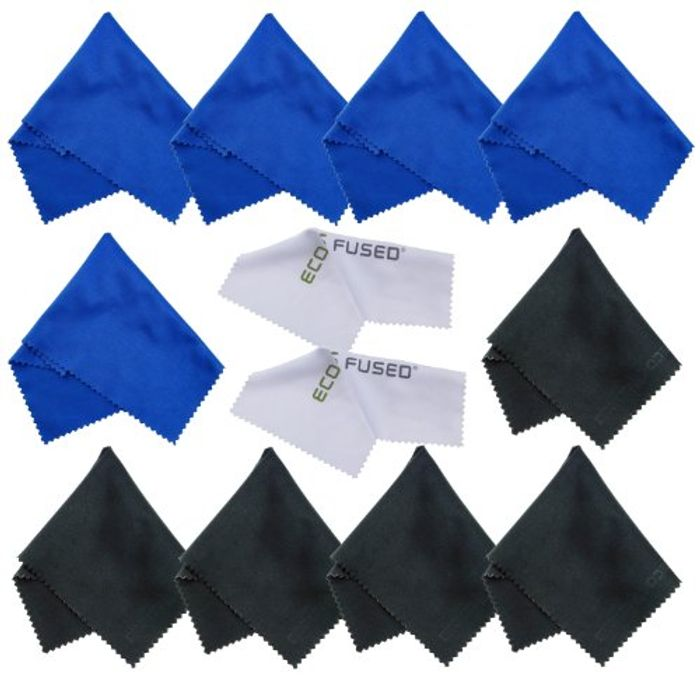 ECO-FUSED Microfiber Cleaning Cloths- 12 Pack