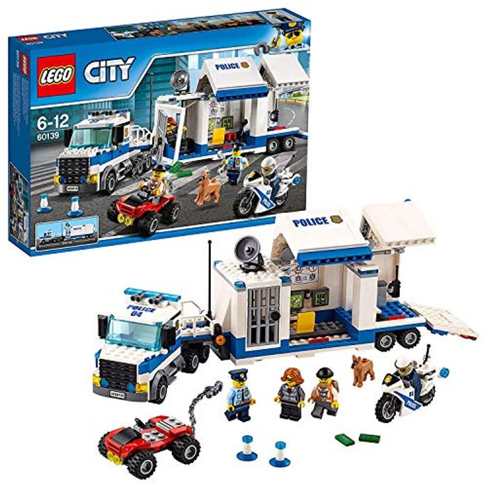 LEGO 60139 City Police Mobile Command Center Building Set, Toy Truck